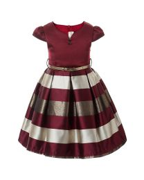 Shades Of Wine Kids Party Frock-babycouture.in