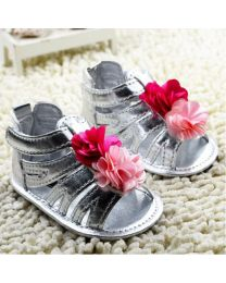 Silver Rose Baby Pre Walking Gladiators-babycouture.in