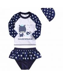 Starry Happiness Kids Swimwear-babycouture.in