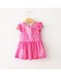 Strawberry Cooler Pretty Lace Dress-babycouture.in