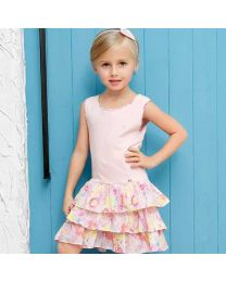 Stylish Back Cake Skirt Kids Dress-babycouture.in