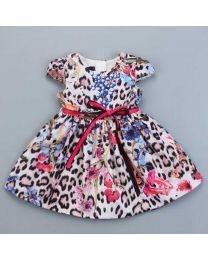 Stylish Diva Print Summer Kids Frock-babycouture.in