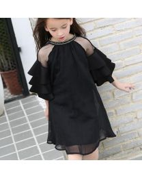 Stylish Couture Black Kids Party Dress-babycouture.in