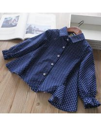 Stylish Polka With Back Bow Kids Shirt-babycouture.in