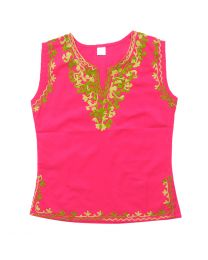 SwankyMe Hot Pink Embroidered Kurti-babycouture.in
