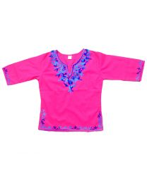 SwankyMe Magenta Embroidered Kurti-babycouture.in