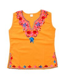 SwankyMe Mustard Embroidered Kurti-babycouture.in