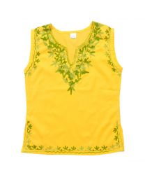 SwankyMe Yellow Embroidered Kurti-babycouture.in