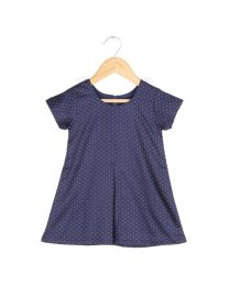 Tia's Blue Bow Fix Kids Dress-babycouture.in