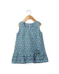 Tia's Denim Dreams Kids Dress-babycouture.in