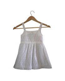 Tia's Eyelet Flutter Kids Dress-babycouture.in