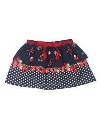 Tias Strawberry Two Layered Kids Skirt-babycouture.in