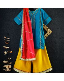 Tiny Pants Baby Girl Punjabi Suit With Palazzo-babycouture.in