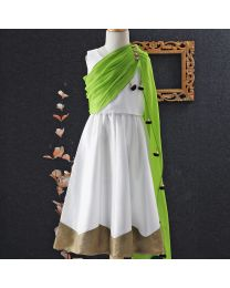 Tiny Pants Crop Top And Skirt Set With Attached Dupatta-babycouture.in