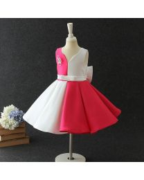 Trendy Diva Pink & White Kids Party Dress-babycouture.in