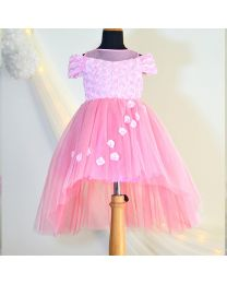 Tutu Kidswear Blush Pink Rose-Fall Dress-babycouture.in