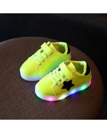 URB-N-ANGELS Green LED Star Kids Sneakers-babycouture.in