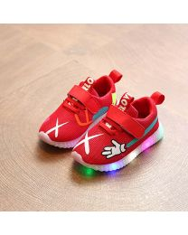URB-N-ANGELS Red LED Kids Sneakers-babycouture.in