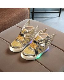 URB-N-ANGELS Stylish Golden Girl Gladiator Shoes-babycouture.in