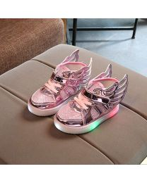 URB-N-ANGELS Stylish Pink Girl Gladiator Shoes-babycouture.in