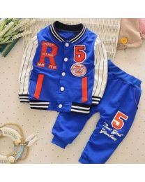 URB N ANGEL Blue New-York-Yankies Kid's Track Suit-babycouture.in