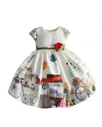 Welcome Home Cute Kids Frock-babycouture.in