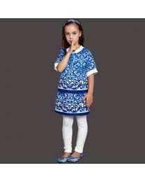 WL Monsoon Majolica Greek Print Smart Skirt Set-babycouture.in