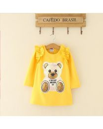Yellow Cutie Toy Kids Dress-babycouture.in